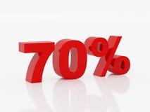Zeventig percent van rode kleur Stock Afbeelding