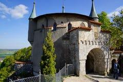 Zewnętrzny wejście Lichtenstein kasztelu teren obraz stock