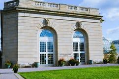 Zewnętrzny widok Stany Zjednoczone ogródu botanicznego konserwatorium budynek, lokalizować na national mall fotografia royalty free