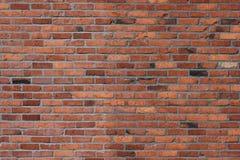 Zewnętrzna cegły i moździerza ściana zdjęcia royalty free