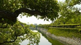 Zewnętrzna fosa Osaka kasztel Kasztel jest jeden Japonia ` s najwi?cej s?awnych punkt?w zwrotnych zdjęcia stock