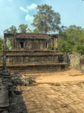Zewnętrzna porcja Bayon świątynia, Siem Przeprowadza żniwa fotografia royalty free