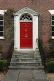 zewnętrzne drzwi georgian dom zdjęcie royalty free