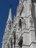 Zewnętrznego budynku fasadowy szczegół Węgierski parlament obraz royalty free