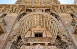 Zewnętrznie fasada Baron Empain pałac, Heliopolis okręg, Kair, Egipt fotografia stock