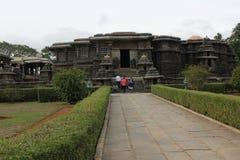 Zewnętrznie widok Hoysaleswara świątynia obraz stock