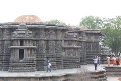 Zewnętrznie widok Hoysaleswara świątynia zdjęcie royalty free