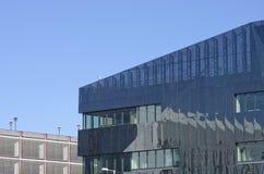 Zewnętrzny aluminium załatwiał żaluzja system jako budynek fasadowy Machester Englan fotografia royalty free