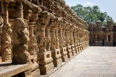 Zewnętrzny podwórze w Hinduskiej świątyni Obraz Royalty Free