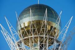 Zewnętrzny szczegół Bayterek zabytek i obserwaci wierza w Astana, Kazachstan Zdjęcia Stock