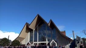 Zewnętrzny szeroki strzał żałobna kaplica zdjęcie wideo