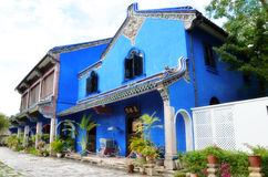 Zewnętrzny widok Cheong Fatt Tze dwór, Penang zdjęcia royalty free