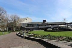 Zewnętrzny widok opera w Karlsruhe i teatr, Niemcy fotografia royalty free