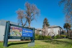 Zewnętrzny widok sławny Crocker muzeum sztuki Zdjęcia Royalty Free
