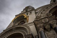 Zewnętrzny wystrój zadziwiająca katedra Obraz Royalty Free