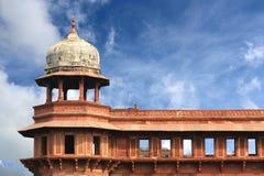 Zewnętrzni elementy Agra fortu dach Fotografia Royalty Free