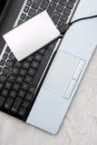 Zewnętrznie HDD i laptop Obraz Stock
