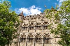 Zewnętrzny Gravensteen kasztel w Gent obrazy royalty free