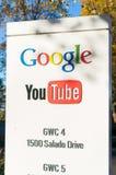 Zewnętrzny widok Google Youtube biuro Zdjęcia Stock