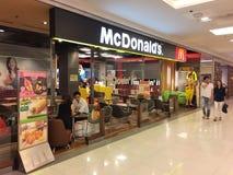 Zewnętrzny widok McDonald restauracja Zdjęcie Stock