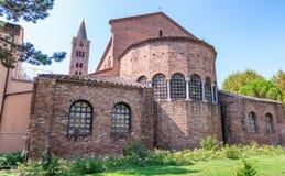 Zewnętrzny widok Sant Apollinare Nuovo w Ravenna Fotografia Royalty Free
