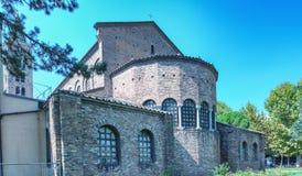 Zewnętrzny widok Sant Apollinare Nuovo w Ravenna Zdjęcia Stock