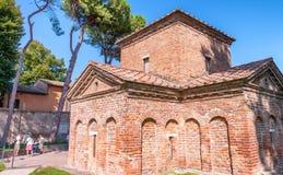 Zewnętrzny widok Sant Apollinare W Classe w Ravenna Zdjęcia Stock