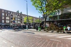Zewnętrzny widok Schilderstraat ulica w centrum miasta Fotografia Royalty Free