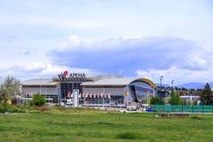 Zewnętrzny widok VIP arena, wielki stadium i wydarzenia miejsce wydarzenia Sk, Zdjęcia Stock