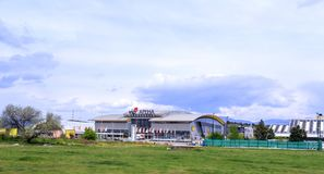 Zewnętrzny widok VIP arena, wielki stadium i wydarzenia miejsce wydarzenia Sk, Obrazy Royalty Free