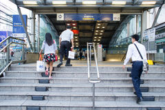 Zewnętrzny widok Huai Khwang MRT stacja Fotografia Royalty Free