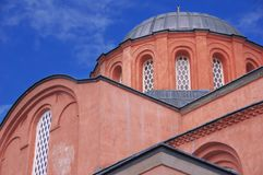 Zeyrek清真寺,基督Pantokrator前教会在现代伊斯坦布尔 免版税库存照片