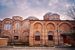 Zeyrek Mosque, the former church of Christ Pantokrator in modern Istanbul. The byzantine monastery of the Christ Pantokrator, now Zeyrek Mosque in modern royalty free stock photo