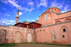 Zeyrek Mosque, the former church of Christ Pantokrator in modern Istanbul. The byzantine monastery of the Christ Pantokrator, now Zeyrek Mosque in modern stock images
