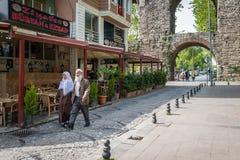 Zeyrek-Straßenansicht in Istanbul, die Türkei Stockfotografie