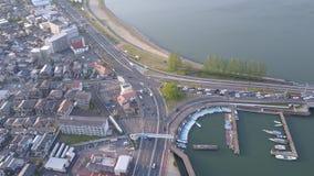 Zeze Traffic Intersection, Lakeside Biwako nella prefettura di Shiga Fotografia Stock Libera da Diritti