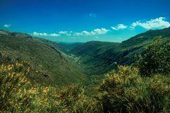 Zezere River valley. A long canyon formed by glacier thousands of years ago at the Serra da Estrela. The highest mountain range in continental Portugal, with stock images