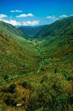 Zezere River valley. A long green canyon formed by glacier thousands of years ago at the Serra da Estrela. The highest mountain range in continental Portugal royalty free stock photography