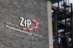 Zfp sign in dortmund germany. Dortmund, North Rhine-Westphalia/germany - 22 10 18: zfp sign in dortmund germany stock photo