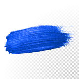 Zgłębia błękitnego akwareli muśnięcia abstrakcjonistycznego uderzenia Wektorowy nafcianej farby rozmaz ilustracji