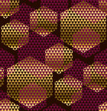 Zgłębia - czerwonego koloru dekoracyjnego bezszwowego wzór ilustracji