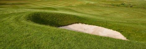 Zgłębia golfowego bunkier Fotografia Royalty Free