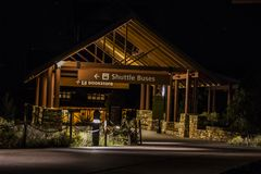 Zgłębia gwiazdowego pole w Arizona przy Uroczystym jarem przy nocy długim ujawnieniem zdjęcia royalty free