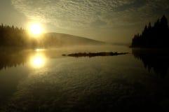 zgłębia lasowego jezioro Fotografia Royalty Free