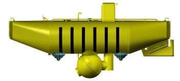 zgłębia odosobnioną denną łódź podwodną Fotografia Royalty Free