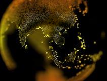 Zgłębia pole światowej mapy punkt zdjęcia royalty free