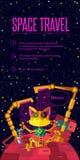 Zgłębia przestrzeń Robot planeta Robot pije olej Zdjęcie Stock