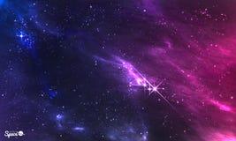 Zgłębia przestrzeń Wektorowa ilustracja pozaziemska mgławica z gwiazdowym gronem Obrazy Stock