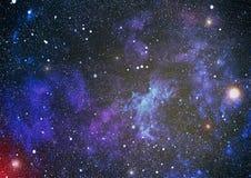 Zgłębia przestrzeń Wysoki definici gwiazdowego pola tło Gwiaździsta kosmosu tła tekstura Kolorowy Gwiaździsty nocne niebo kosmos Obraz Royalty Free