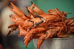 Zgłębia Smażących kraby Fotografia Royalty Free